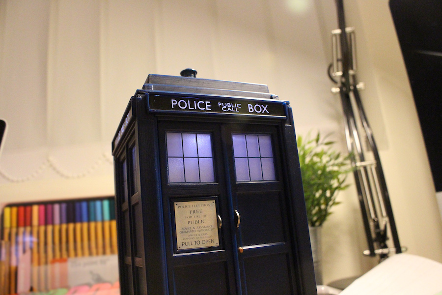 Tardis on a desk